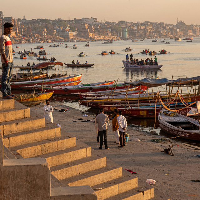 """VARANASI MORNING"" stock image"