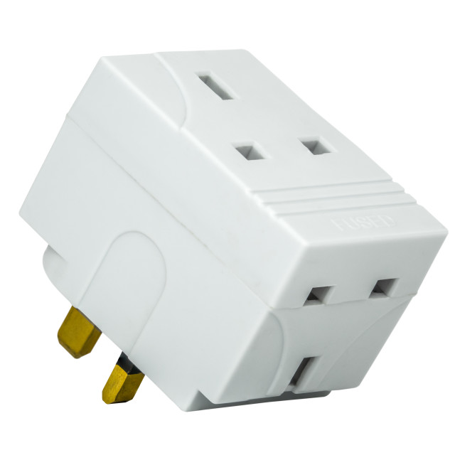"""UK Cube Adaptor Plug"" stock image"