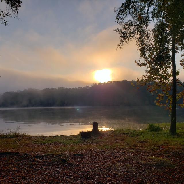 """Tennessee Fall Sunrise"" stock image"