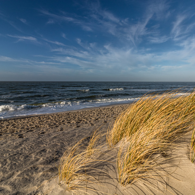 """""""at the beach on Is. Sylt"""" stock image"""