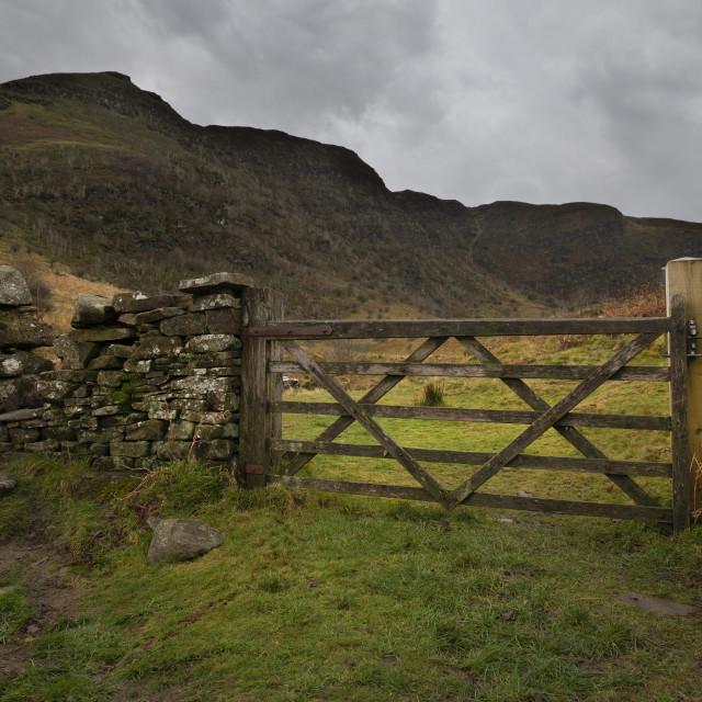 """The gateway to Craig Cerrig-gleisiad"" stock image"