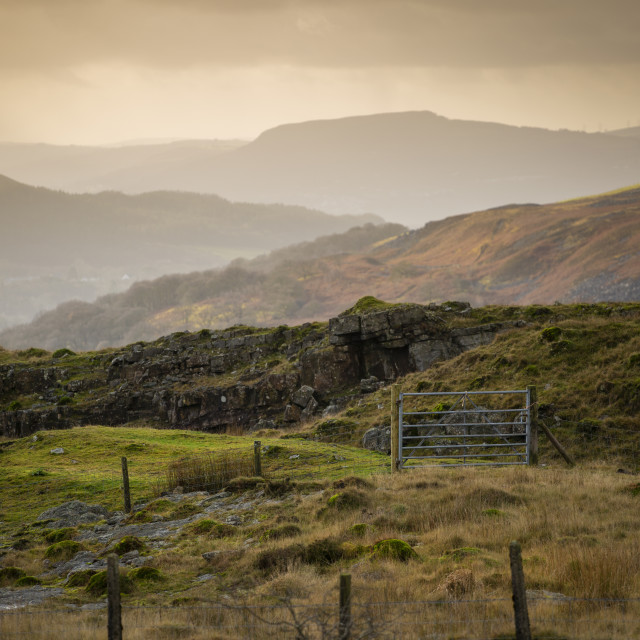 """""""The mountains in South Wales"""" stock image"""