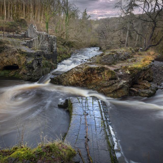"""The Avon Mellte river"" stock image"