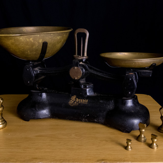 """""""Vintage scales"""" stock image"""