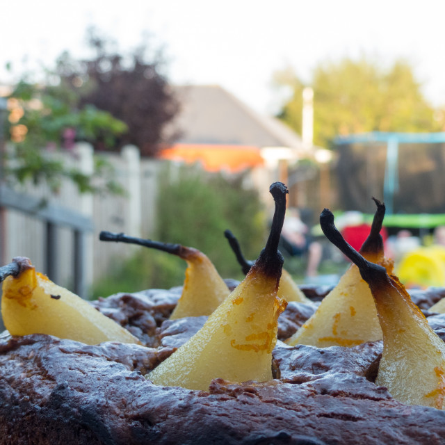 """Pear cake"" stock image"