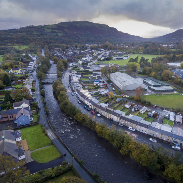 """""""The river Tawe in Ystradgynlais"""" stock image"""