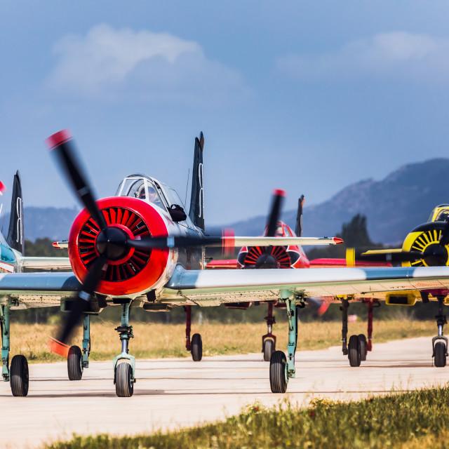 """Yakovlev Yak-52"" stock image"