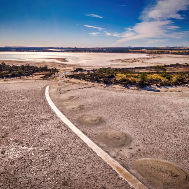 """""""Yenyenning Salt Lakes"""" stock image"""