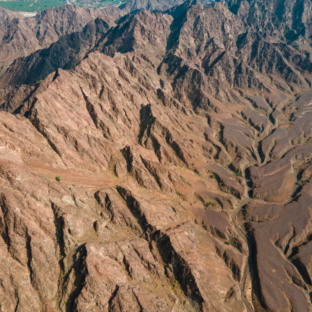 """Hajar mountains in Hatta enclave of Dubai in the UAE"" stock image"