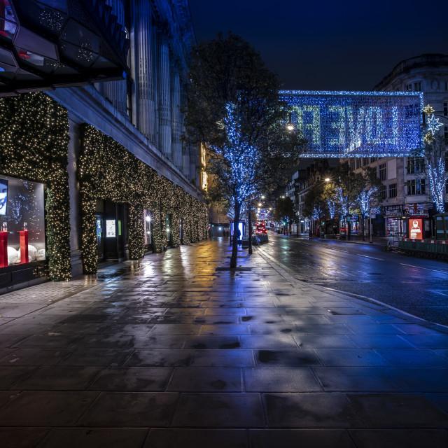 """""""Oxford Street in Lockdown"""" stock image"""