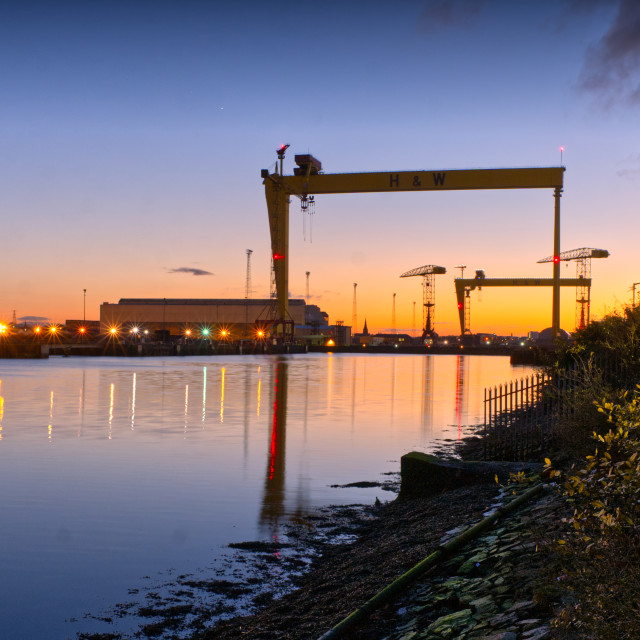 """Harland & Wolff cranes"" stock image"