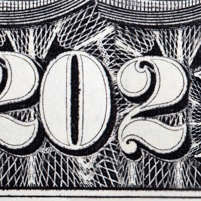 """2021 year - inscription arranged from banknotes"" stock image"