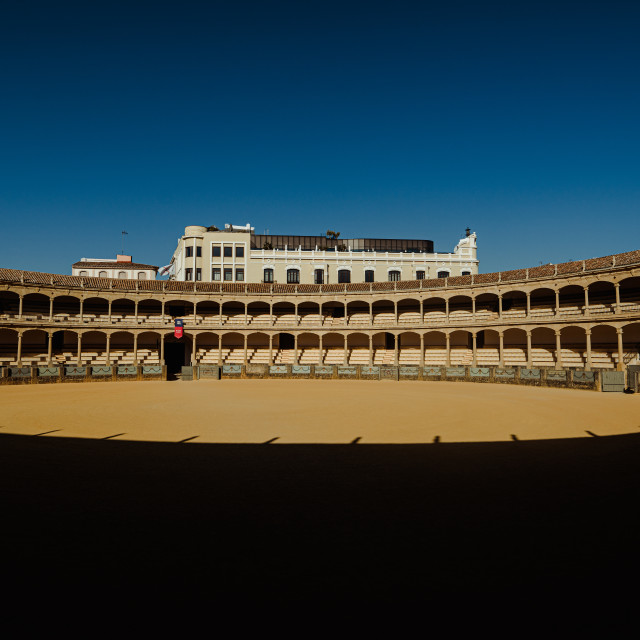 """Bullring of the Royal Cavalry of Ronda"" stock image"