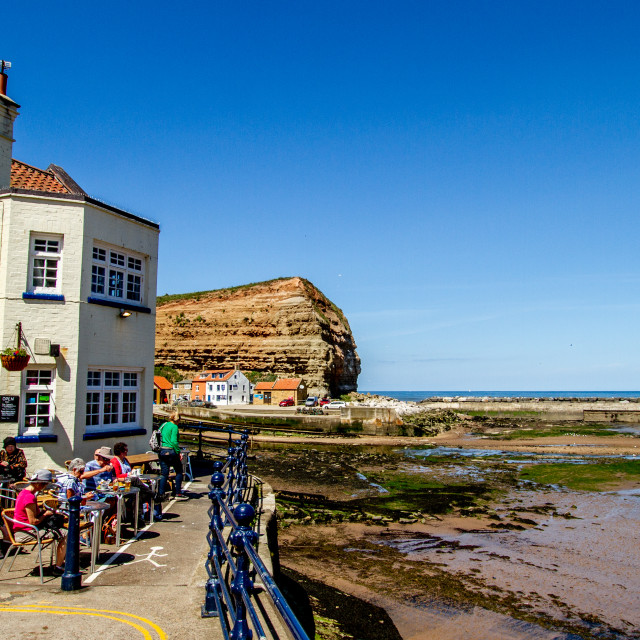 """Cod and Lobster Public House, Staithes, Yorkshire, England."" stock image"