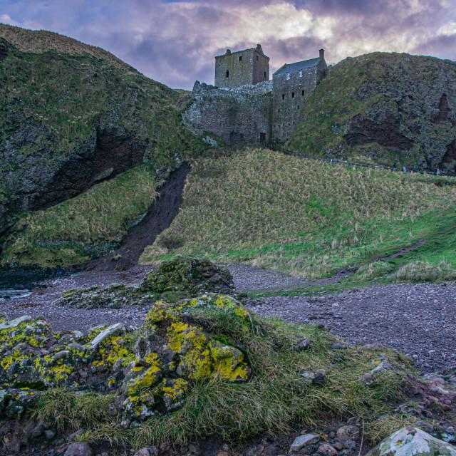 """""""Dunnottar Castle in Winter Light"""" stock image"""