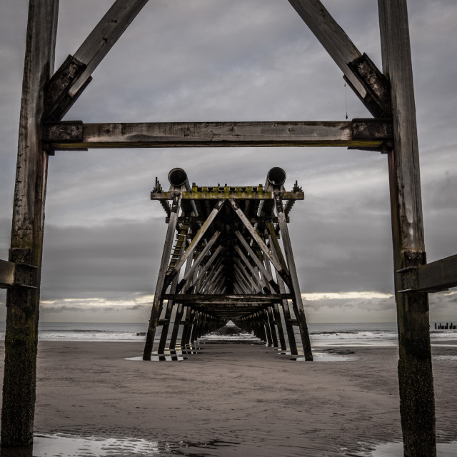 """Steetley Pier"" stock image"