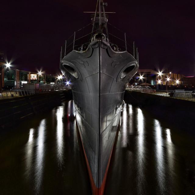 """HMS Caroline."" stock image"