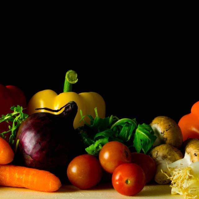 """Still life vegetables"" stock image"