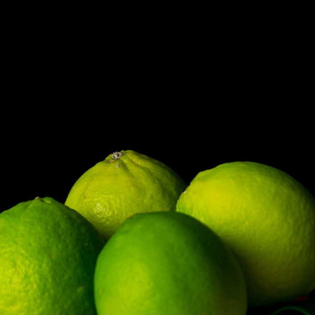 """Still life limes"" stock image"