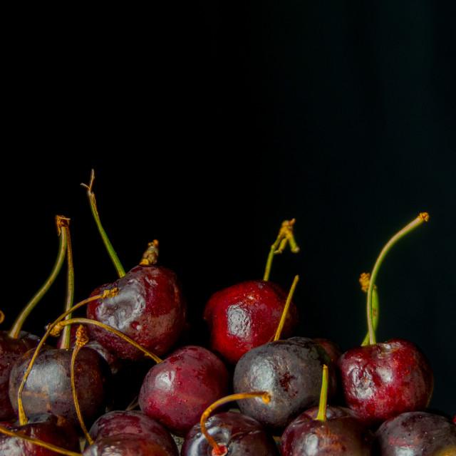 """Still life cherries"" stock image"