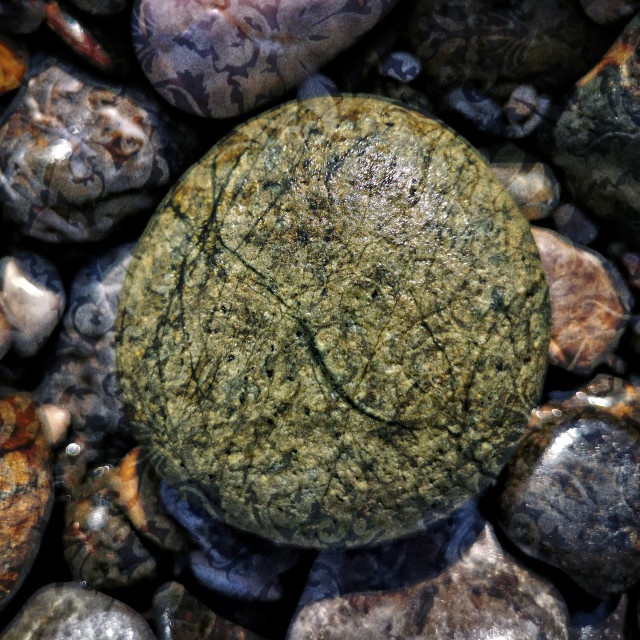 """Beach stone, Turkey"" stock image"