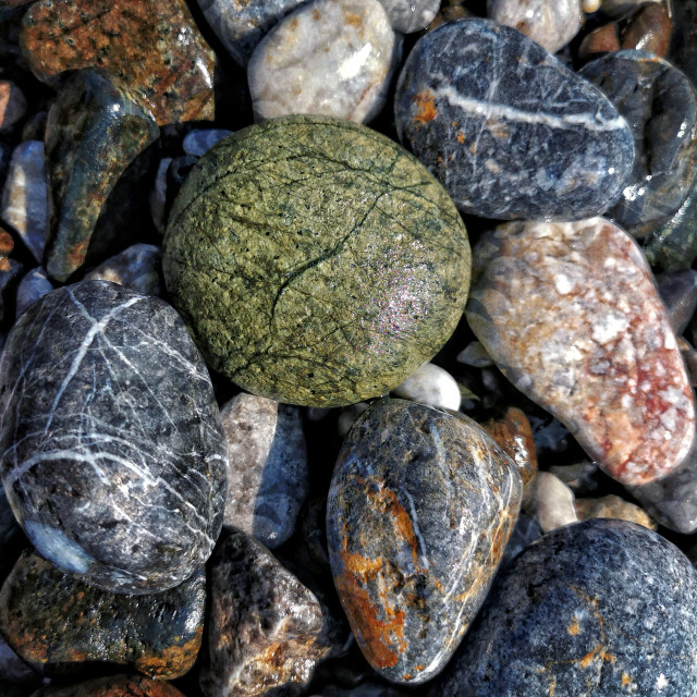 """Beach stones, Turkey"" stock image"