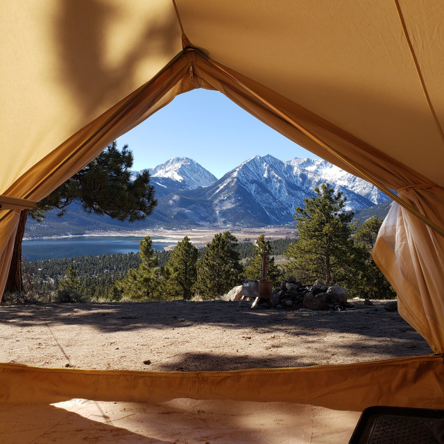"""""""Tent View"""" stock image"""