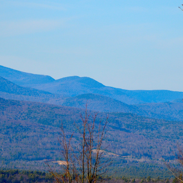 """""""SOUTH BALDFACE MOUNTAIN AND SURROUNDING HILLS"""" stock image"""