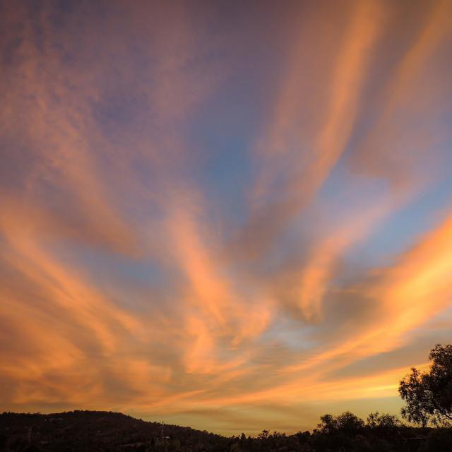 """High Cirrus Sunset 2"" stock image"