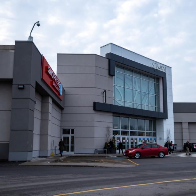 """St. Laurent Shopping Centre Main Entrance"" stock image"