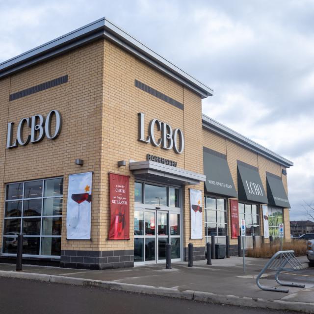 """LCBO store in Barrhaven, Ottawa"" stock image"