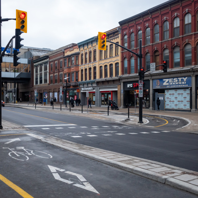 """""""Reopened Rideau Street in downtown Ottawa"""" stock image"""