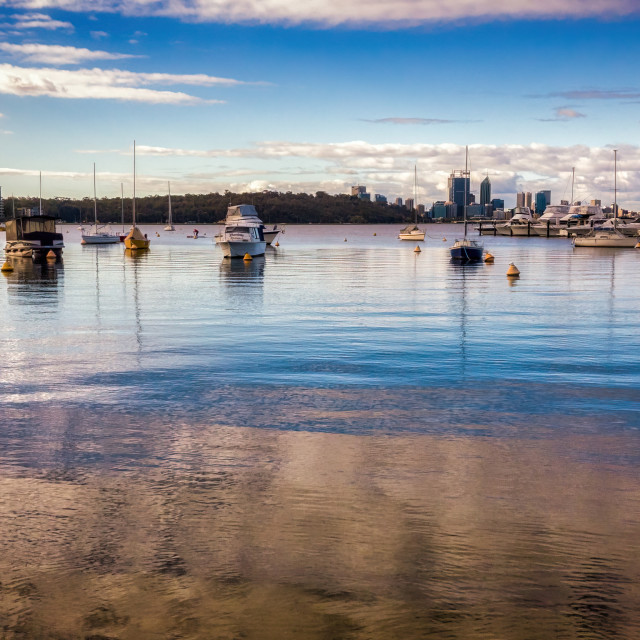 """Calm Water, Matilda Bay"" stock image"