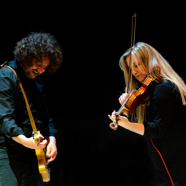"""Laura McKinlay and Ian Prowse with Amsterdam"" stock image"