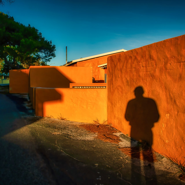"""Rottnest Sunset Wall"" stock image"