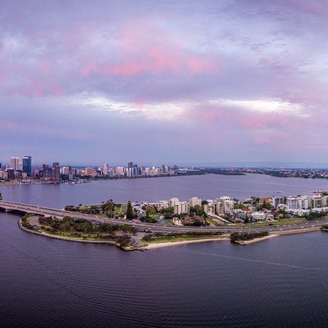 """""""Perth Across the Narrows"""" stock image"""