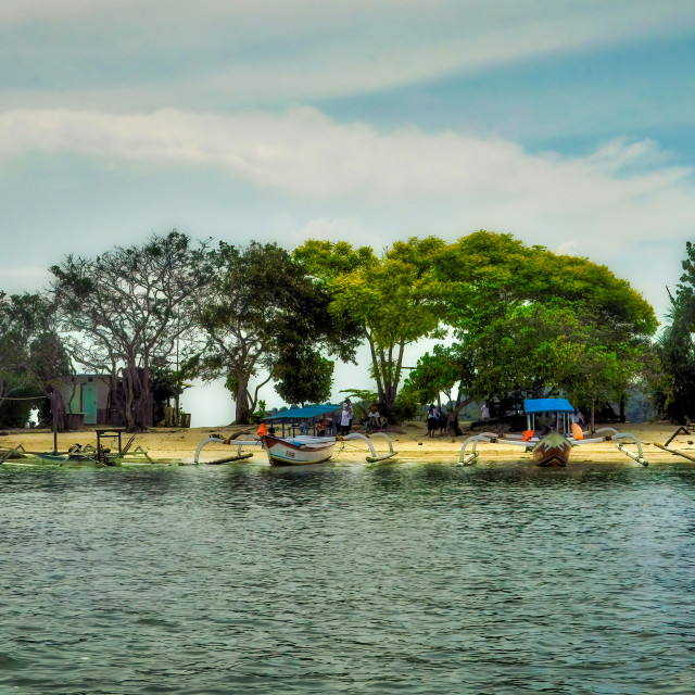 """""""Small Island in the Gilis, Lombok"""" stock image"""