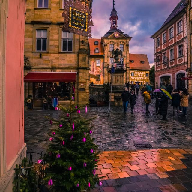 """Christmas in Bamberg"" stock image"