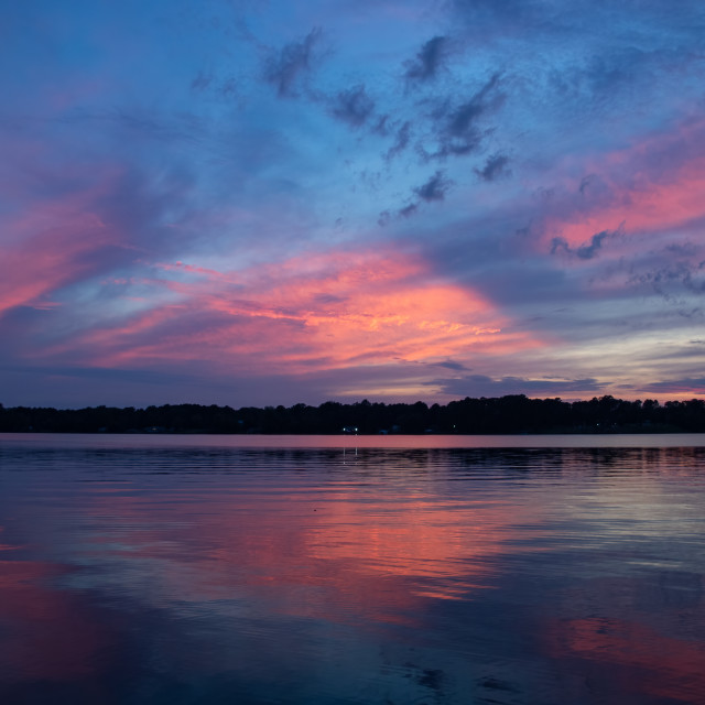 """""""Sunset in Pink and Blue"""" stock image"""