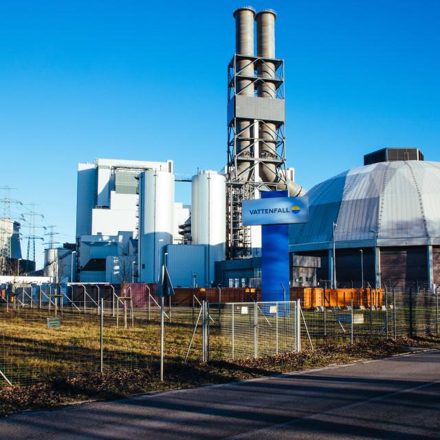 """Vattenfall Heizkraftwerk Moorburg"" stock image"