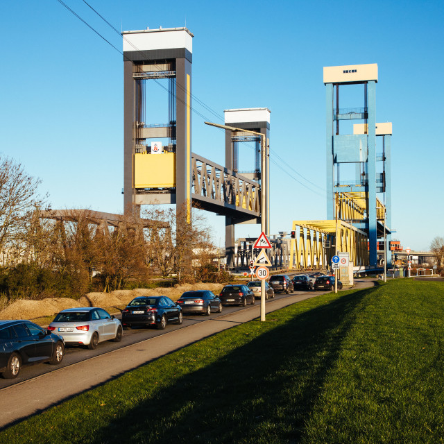 """""""Kattwykbrücke"""" stock image"""