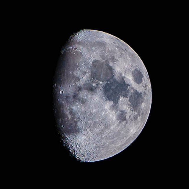 """""""Waxing Gibbous Moon"""" stock image"""