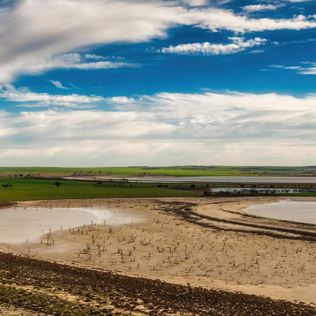 """Wheatbelt Salt Lakes"" stock image"
