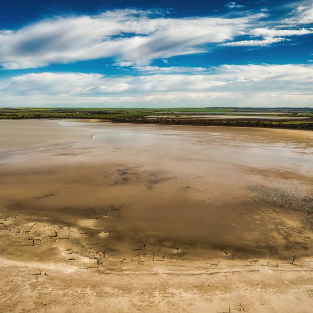 """Wheatbelt Salt Lake"" stock image"