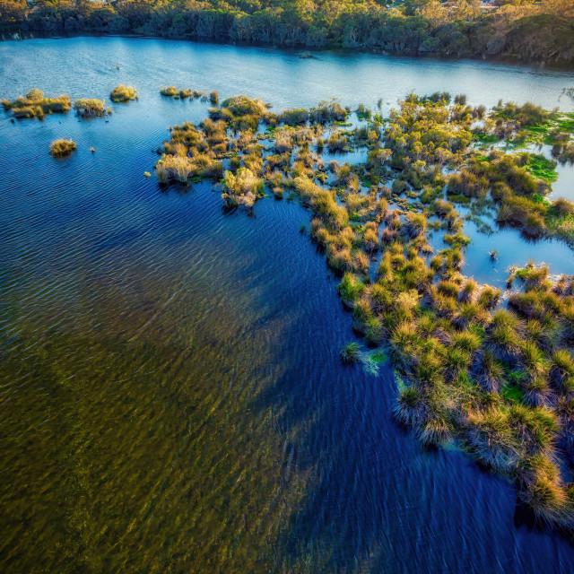 """""""Lake Goollelal Vertical Panorama"""" stock image"""