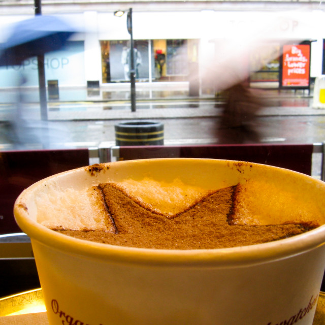 """""""Hot coffee in London"""" stock image"""