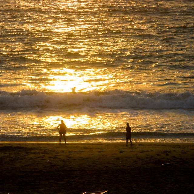 """Couple on beach"" stock image"