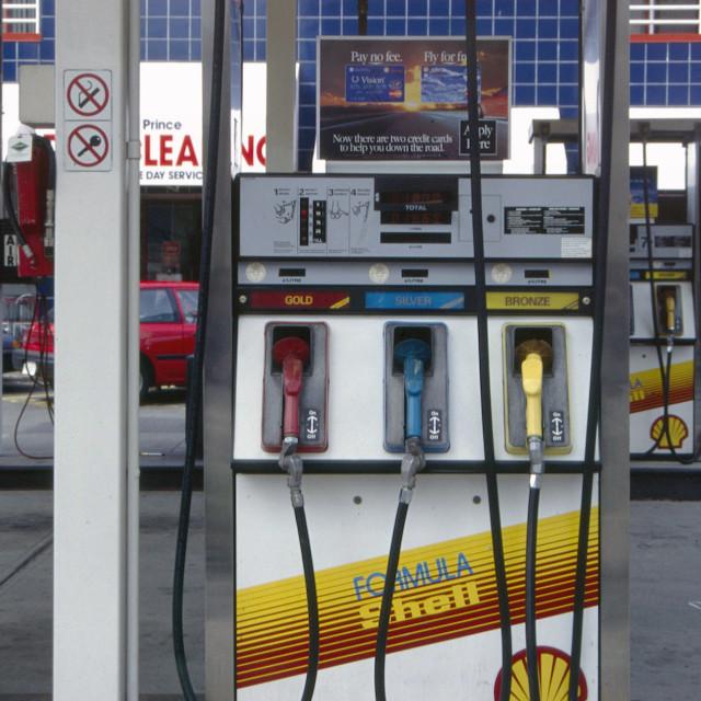 """Vancouver petrol pump"" stock image"