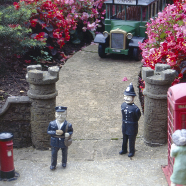"""Model village, Isle of Wight"" stock image"