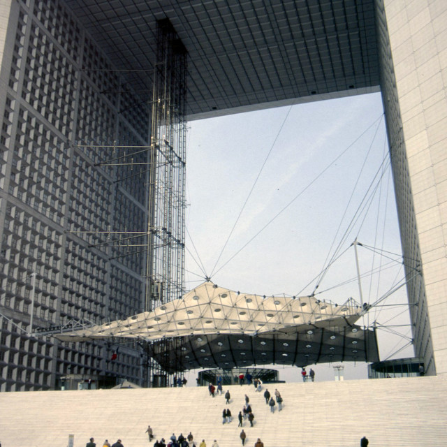 """The Grand Arche, Paris"" stock image"
